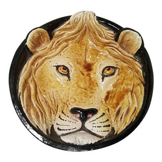Mid-Century Taste Setter Lion Face Catchalls For Sale
