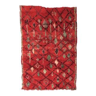 Vintage Moroccan Boujad Rug - 6′ × 8′5″ For Sale