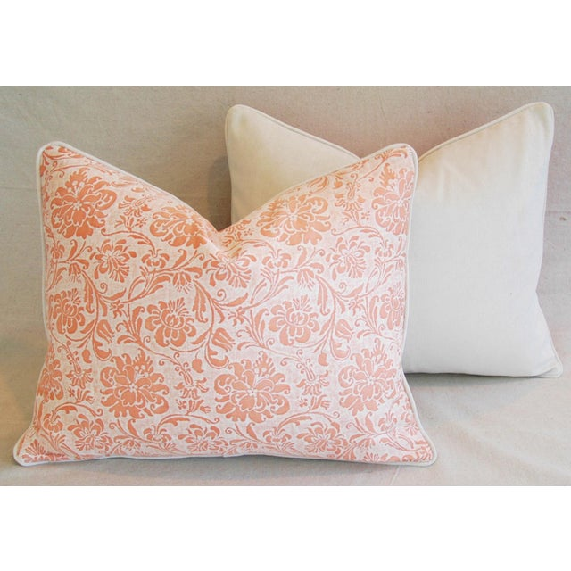 Designer Italian Fortuny Cimarosa Feather/Down Pillows - a Pair For Sale - Image 10 of 10