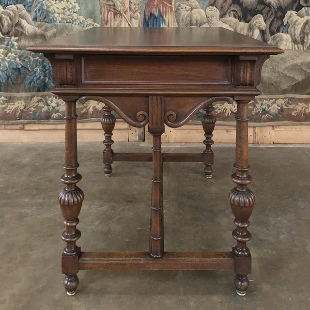 19th Century French Henri II Walnut Writing Table For Sale - Image 11 of 13