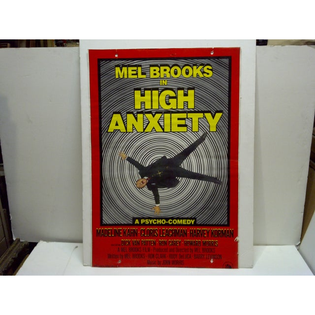 """This is a Vintage Movie Poster -- Mel Brooks In """"High Anxiety"""" -- A Psycho-Comedy -- 20th Century Fox -- The Poster Is..."""