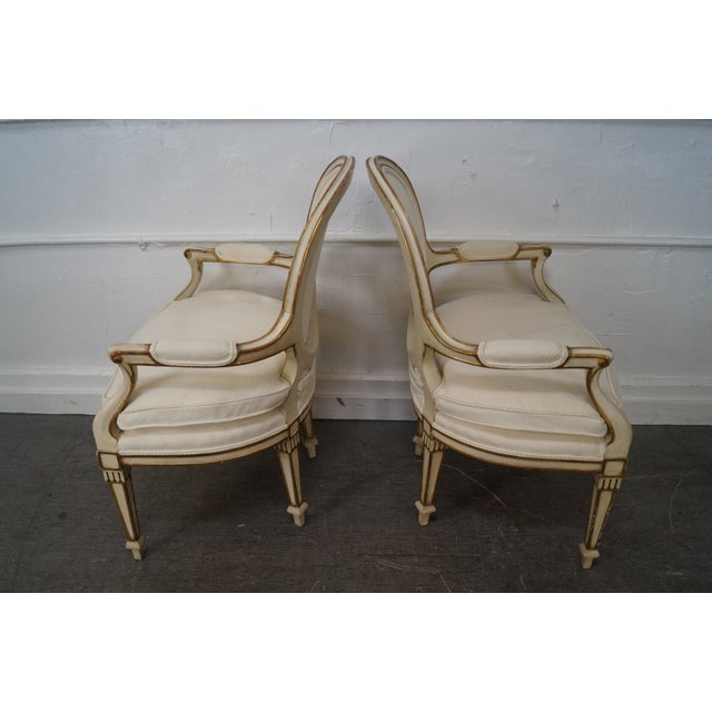Widdicomb Paint Frame Regency Style Arm Chairs - A Pair - Image 3 of 10