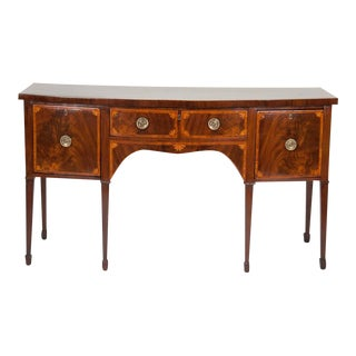 Fine George III Mahogany and Satinwood Inlaid Sideboard For Sale