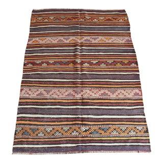 Vintage Handwoven Area Kilim Rug For Sale