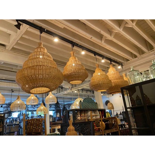 Rattan Madras Lantern For Sale - Image 4 of 5