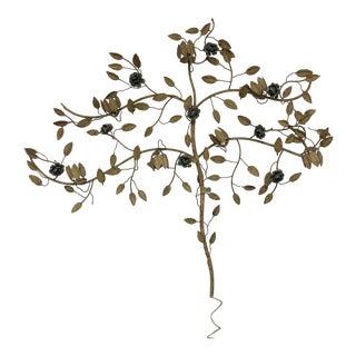 Vintage Seven-Light Floral Wall Sconce