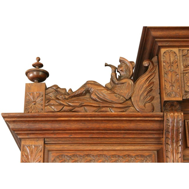 Antique Chestnut French Brittany Style Buffet For Sale - Image 5 of 8