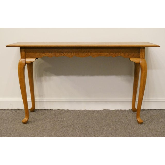 "Kincaid Furniture French Country Solid Oak 52"" Sofa Accent Table For Sale In Kansas City - Image 6 of 9"