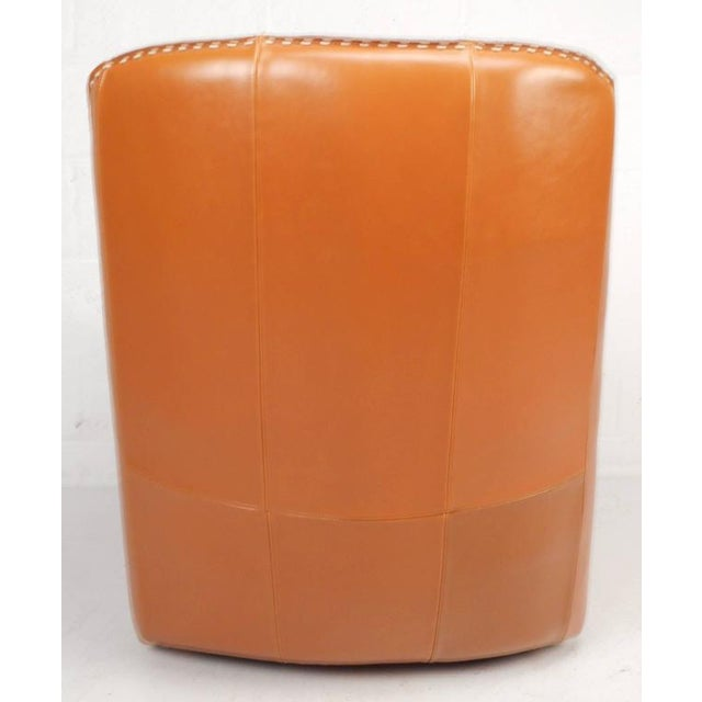 Contemporary Modern Leather Rocking Chair - Image 4 of 8