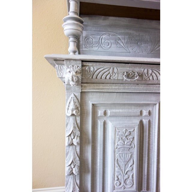 Renaissance Revival Painted Carved Sideboard - Image 5 of 11