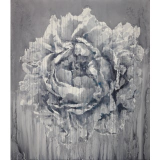 """""""Peony III"""" Contemporary Botanical Watercolor Painting by Chizuru Morii Kaplan For Sale"""