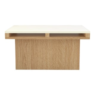 Contemporary 102 End Table in Oak and White by Orphan Work, 2019 For Sale