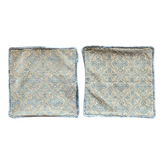 Restoration Hardware Damask Pillow Covers - A Pair For Sale