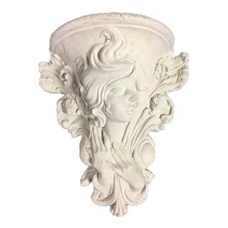 1920s Art Nouveau Ivory Concrete Bracket