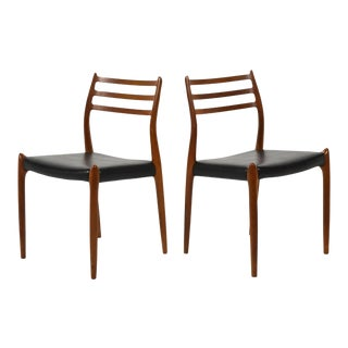 Niels Moller Pair of Model 78 Chairs by j.l. Moller For Sale