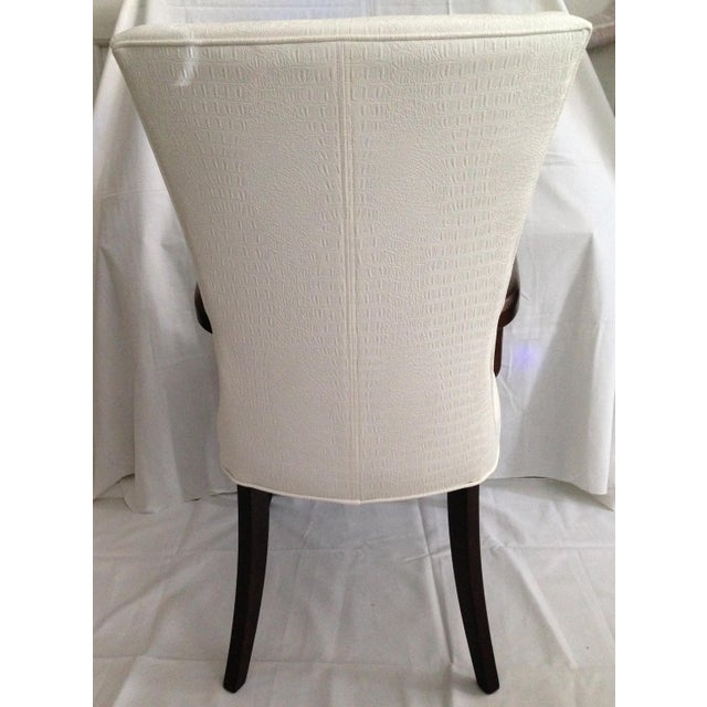 Faux Crocodile Leather Italian Accent Chairs - a Pair - Image 4 of 6