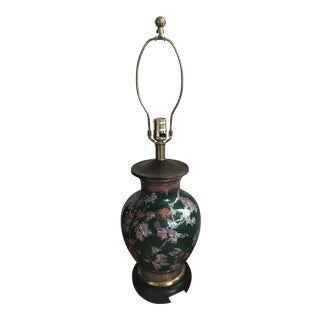 1960s Frederick Cooper Hand Painted Chinoiserie Ginger Jar Table Lamp For Sale