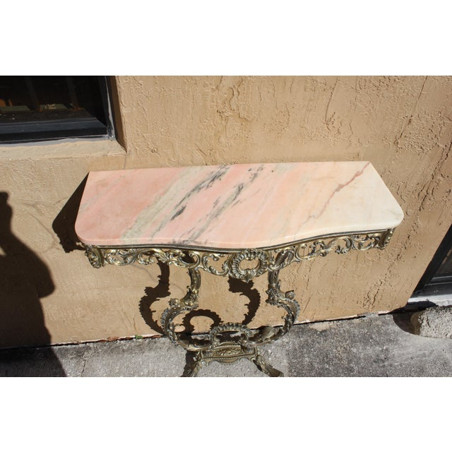 French 1900s French Louis XVI Bronze Console Table For Sale - Image 3 of 13