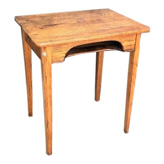 Industrial Schoolhouse Wooden Writing Desk For Sale