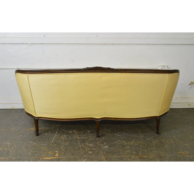 Yellow French Louis XV Style Sofa by Trianon (Made Exclusively for Bloomingdales) For Sale - Image 8 of 13