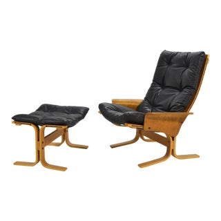Ingmar Relling Siesta Chair and Ottoman For Sale