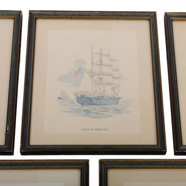 Vintage Sailing Ship Framed Print Collection - Set of 7 For Sale - Image 5 of 6