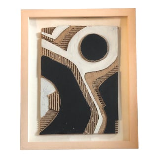Original Contemporary Stephen Heigh Abstract Painting/Collage Framed For Sale