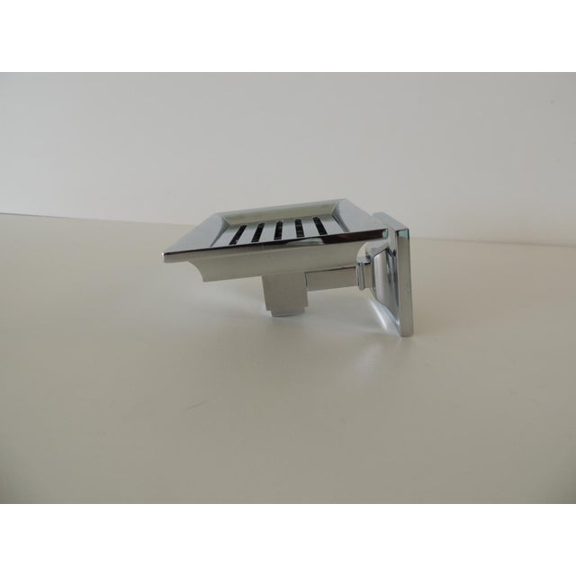 Restoration Hardware Small Shower Basket Satin Nickel For Sale In Miami - Image 6 of 7