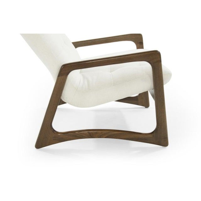 White Sculptural Walnut Lounge Chairs by Adrian Pearsall for Craft Associates - a Pair For Sale - Image 8 of 13