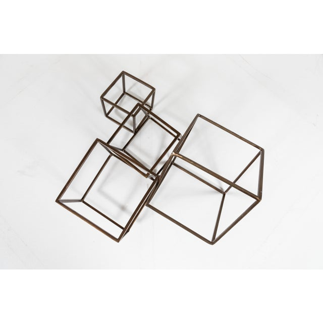 Late 20th Century Cubist Brass Sculpture For Sale - Image 5 of 8