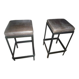 Distressed Bar Stools - A Pair