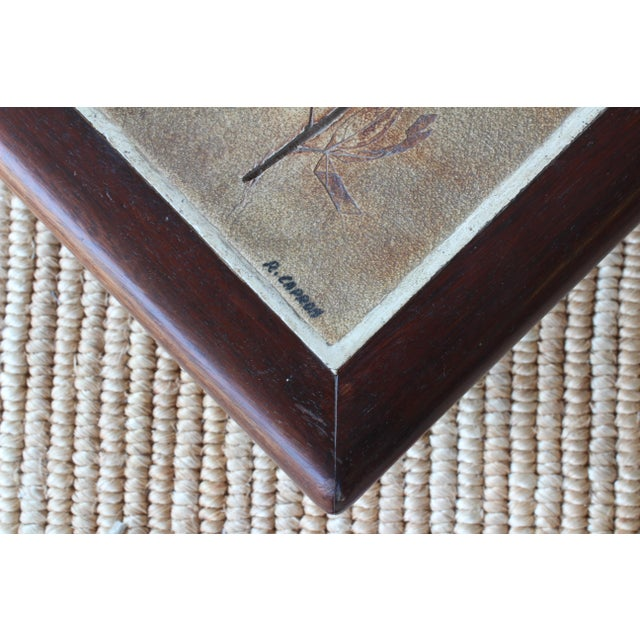 French Cocktail Table With Roger Capron Tiles, 1960s For Sale In Los Angeles - Image 6 of 10