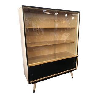 1950s Vintage Mid Century German Curio Cabinet For Sale