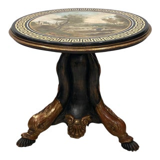 Scagliola Scenic Table, Italy Early 19th Century For Sale