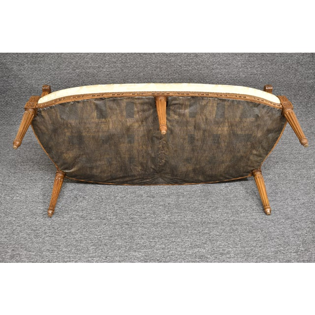 19th Century French Louis XVI Style Carved Chinoiseries Canape Settee For Sale - Image 10 of 12