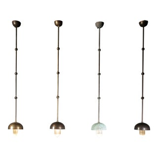 Selenne Brass and Bronze Pendants by Christine Rouviere For Sale