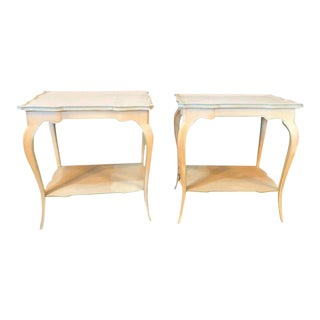 Distressed Paint Decorated Maison Jansen Side Tables or Night Tables - a Pair For Sale
