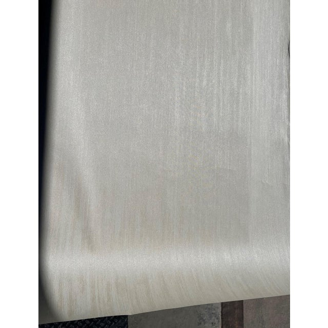 Transitional Solid Grey Wallcovering For Sale - Image 3 of 4