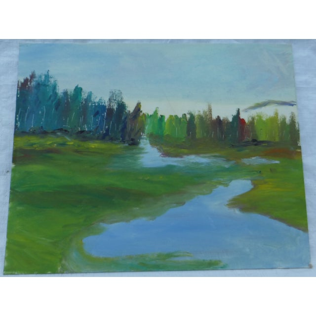 H.L. Musgrave Mid-Century River Painting - Image 2 of 6