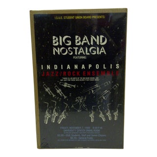 "1980 Vintage ""Big Band Nostalgia"" Indianapolis Concert Poster For Sale"