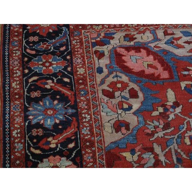 Red Antique Feraghan Sarouk Rug For Sale - Image 8 of 10