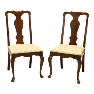 Pennsylvania House Solid Cherry Queen Anne Dining Side Chairs - Pair B For Sale