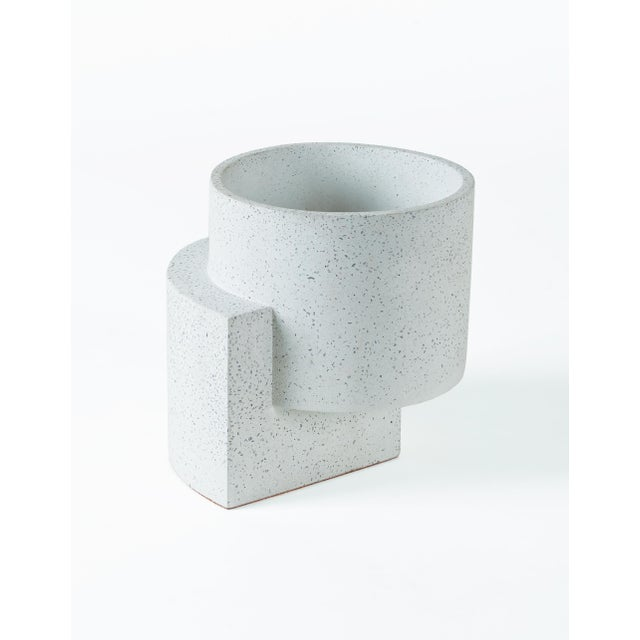 Concrete Tortuga Platform Medium White Planter For Sale - Image 7 of 7
