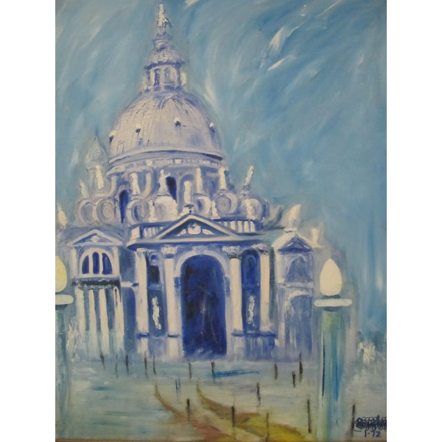 Framed Vintage Painting of Venice For Sale - Image 4 of 8
