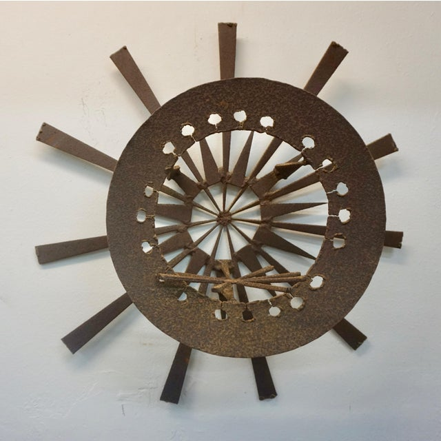 Metal Torch Cut Brutalist Wall Sculpture For Sale - Image 7 of 7