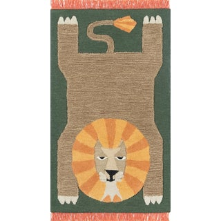 Novogratz by Momeni Atticus Leon in Green Rug - 3'X5' For Sale