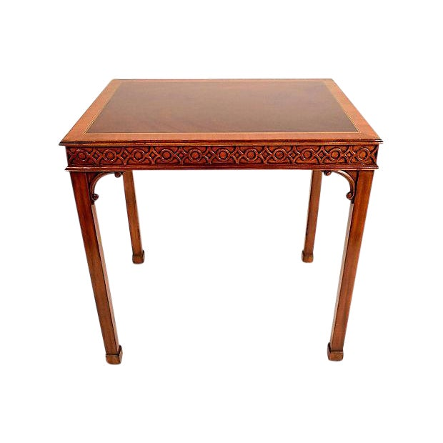 Traditional Mahogany Sheraton Style Side Table For Sale