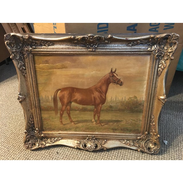 1920s Vintage Wilhelm Westerop Horse Bobby Painting For Sale In Miami - Image 6 of 6