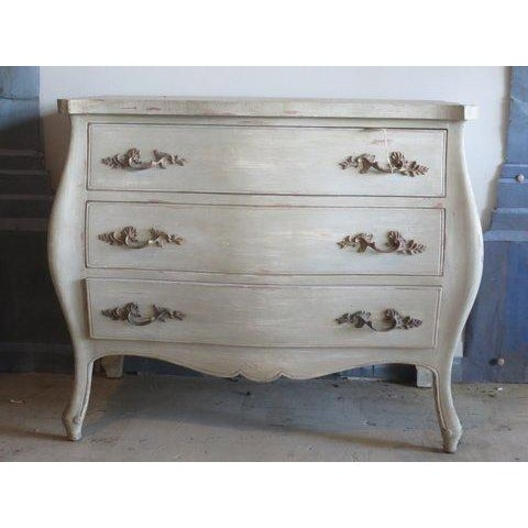 Antique Louis XV Weathered Grey Refinished Dresser - Image 2 of 8