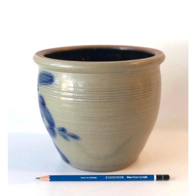 Ceramic Salt Glazed Mixing or Serving Bowl - Vintage For Sale - Image 7 of 13